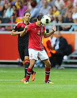 Fotball , EM , Norge - Tyskland 28.juli 2013 , kvinner ,  Sverige , Stockholm , Solna , europamesterskap, finale<br /> Ingvild Stensland<br /> Foto: Ole Marius Fjalsett