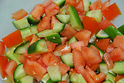 Israeli Salad Tomato Cucumber and parsley