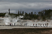 Images from Norris Geyser Basin - the sky was very cloudy, but it was still a magical place; Steamboat Springs (the world's tallest geyser) decided not to break a habit of 5 years and erupt for us while we were there, although there were a few spits