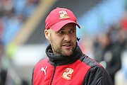 Swindon Town manager Luke Williams  during the Sky Bet League 1 match between Coventry City and Swindon Town at the Ricoh Arena, Coventry, England on 19 March 2016. Photo by Simon Davies.