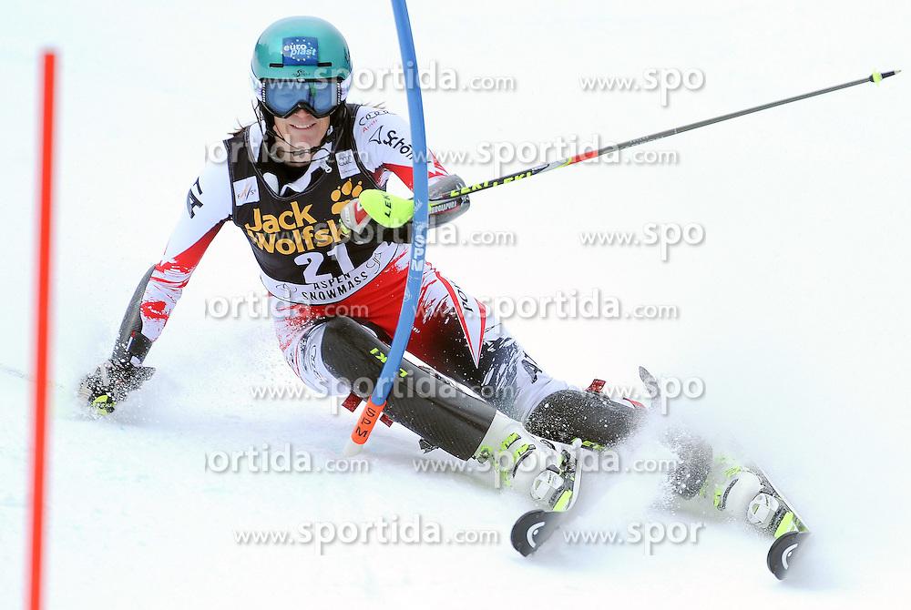 30.11.2014, Aspen Mountain Course, Aspen, USA, FIS Weltcup Ski Alpin, Aspen, Slalom, Damen, 1. Lauf, im Bild Carmen Thalmann (AUT) // Carmen Thalmann of Austria in action during 1st run of ladies Slalom of FIS Ski Alpine Worldcup at the Aspen Mountain Course in Aspen, Canada on 2014/11/30. EXPA Pictures © 2014, PhotoCredit: EXPA/ Erich Spiess