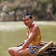 Embera Indigenous of the Embera Drua Reservation by the Chagres River in Panama, Friday, November 18, 2011. Photo: Tito Herrera/www.titoherrera.com