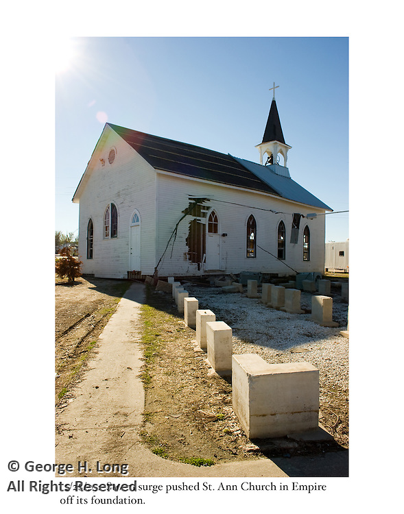 12/26/05:  St. Ann Church in Empire was pushed off its foundation.
