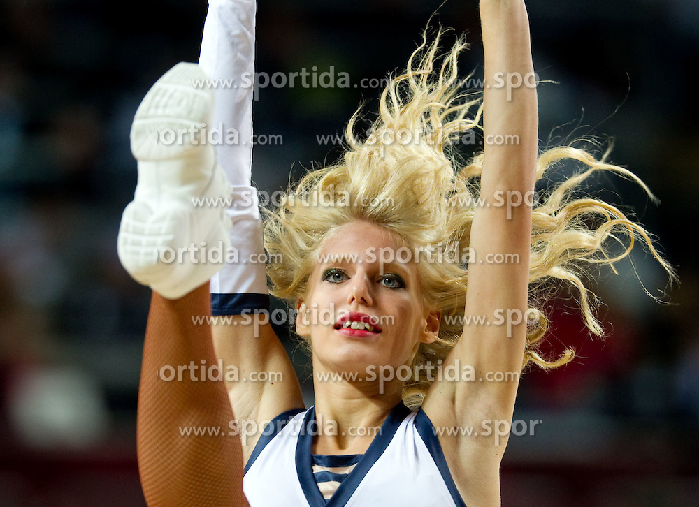 Cheerleader during  the eight-final basketball match between National teams of Slovenia and Australia at 2010 FIBA World Championships on September 5, 2010 at the Sinan Erdem Dome in Istanbul, Turkey. (Photo By Vid Ponikvar / Sportida.com)