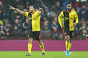 Troy Deeney (9)  celebrates after scoring during the Premier League match between Aston Villa and Watford at Villa Park, Birmingham, England on 21 January 2020. during the Premier League match between Aston Villa and Watford at Villa Park, Birmingham, England on 21 January 2020.