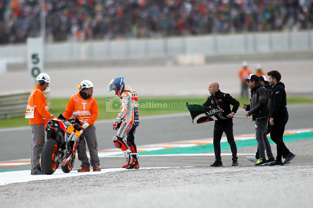 November 17, 2019, Cheste, VALENCIA, SPAIN: Jorge Lorenzo, rider of Repsol Honda Team from Spain, retires of the World Championship in his last Race in the Valencia Grand Prix of MotoGP World Championship celebrated at Circuit Ricardo Tormo on November 16, 2019, in Cheste, Spain. (Credit Image: © AFP7 via ZUMA Wire)