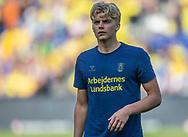 Tobias Børkeeiet (Brøndby IF) under opvarmning til kampen i 3F Superligaen mellem Brøndby IF og Silkeborg IF den 14. juli 2019 på Brøndby Stadion (Foto: Claus Birch)