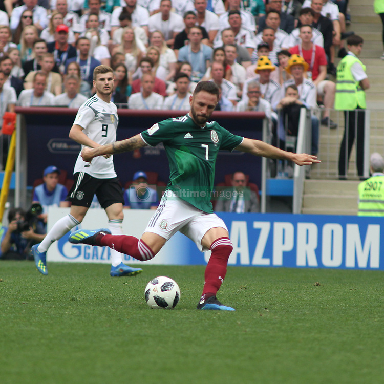 June 17, 2018 - Moscow, Russia - June 17, 2018, Russia, Moscow, FIFA World Cup, First round, Group F, Germany vs Mexico at the Luzhniki stadium. Player of the national team Miguel Laion. (Credit Image: © Russian Look via ZUMA Wire)