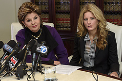 November 11, 2016 - Los Angeles, California, United States - Summer Zervos (R), a former contestant on the TV show The Apprentice, who previously accused Donald Trump of sexual misconduct, during a press conference with attorney Gloria Allred in Los Angeles, California on November 11, 2016. (Credit Image: © Ronen Tivony/NurPhoto via ZUMA Press)
