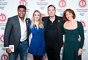 The 2019 Critics' Circle Theatre Awards at The Prince of Wales Theatre, London, Great Britain <br /> 11th February 2020 <br /> <br /> <br /> The Peter Hepple Award for Best Musical – 'Come From Away', Phoenix<br /> <br /> L to r; <br /> Tarinn Callender <br /> Alice Fearn<br /> James Doherty <br /> Kate Graham<br /> <br /> <br />  <br /> Photograph by Elliott Franks