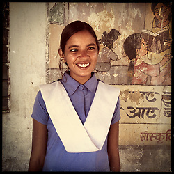 iPhone portrait of Gita Bairwa, 18, in a village outside of Tonk, Rajasthan, India, April 3, 2013. &quot;I refused my marriage. I would have had to go to the in-laws and have kids, so that is why I insisted that I would continue my studies. I want to tell girls, 'Don&rsquo;t get married at a young age,''&quot; said Bairwa. <br /> <br /> Under Indian law, children younger than 18 cannot marry. Yet in a number of India&rsquo;s states, at least half of all girls are married before they turn 18, according to statistics gathered in 2012 by the United Nations Population Fund (UNFPA). However, young girls in the Indian state of Rajasthan&mdash;and even a few boys&mdash;are getting some help in combatting child marriage. In villages throughout Tonk, Jaipur and Banswara districts, the Center for Unfolding Learning Potential, or CULP, uses its Pehchan Project to reach out to girls, generally between the ages of 9 and 14, who either left school early or never went at all. The education and confidence-building CULP offers have empowered young people to refuse forced marriages in favor of continuing their studies, and the nongovernmental organization has provided them with resources and advocates in their fight.