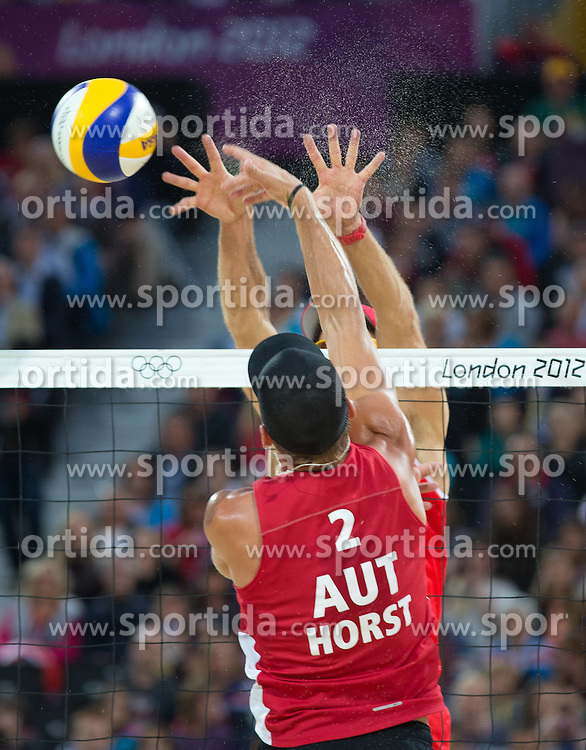 02.08.2012, Horse Guards Parade, London, GBR, Olympia 2012, Beach Volleyball, Damen, im Bild Alexander Horst (AUT) // Alexander Horst (AUT) during women Beach Volleyball at the 2012 Summer Olympics at Horse Guards Parade, London, United Kingdom on 2012/08/02. EXPA Pictures © 2012, PhotoCredit: EXPA/ Johann Groder