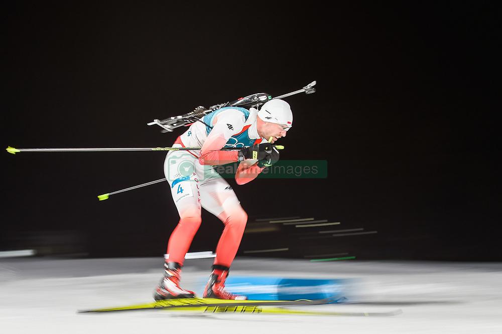 February 11, 2018 - Pyeongchang, Gangwon, South Korea - Grzegorz Guzik ofPoland at Mens 10 kilometre sprint Biathlon at olympics at Alpensia biathlon stadium, Pyeongchang, South Korea on February 11, 2018. (Credit Image: © Ulrik Pedersen/NurPhoto via ZUMA Press)