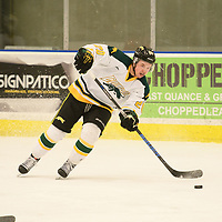 1st year forward Ben Duperreault (20)of the Regina Cougars in action during the Men's Hockey home game on February 3 at Co-operators arena. Credit: Arthur Ward/Arthur Images