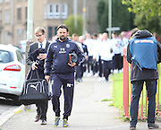 Dundee manager Paul Hartley leads the Dark Blues down the street to Tannadice - Dundee United v Dundee at Tannadice<br /> - Ladbrokes Premiership<br /> <br />  - © David Young - www.davidyoungphoto.co.uk - email: davidyoungphoto@gmail.com