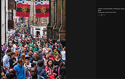 The Guardian; Tourists on Royal Mile 2018