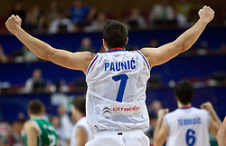 Ivan Paunic of Serbia celebrates  during the EuroBasket 2009 Semi-final match between Slovenia and Serbia, on September 19, 2009, in Arena Spodek, Katowice, Poland. Serbia won after overtime 96:92.  (Photo by Vid Ponikvar / Sportida)
