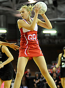 Rachel Shaw in action for England, during New World Netball Series, New Zealand Silver Ferns v England at The ILT Velodrome, Invercargill, New Zealand. Thursday 6 October 2011 . Photo: Richard Hood photosport.co.nz