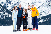 Fotosessie met de koninklijke familie in Lech /// Photoshoot with the Dutch royal family in Lech .<br /> <br /> Prins Constantijn en Prinses Laurentien en hun kinderen gravin Eloise, graaf Claus-Casimir en gravin Leonore, ///// Prince Constantine and Princess Laurentien and their children Countess Eloise, Count Claus-Casimir and Countess Leonore