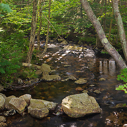 The Lost RIver just before it enters Lost River Gorge in New Hampshire's White Mountains. North Woodstock.