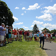 Matt Kuchar, USA, in action during the final round of the Travelers Championship at the TPC River Highlands, Cromwell, Connecticut, USA. 22nd June 2014. Photo Tim Clayton