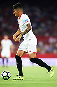 SEVILLE, SPAIN - AUGUST 10:  Joaquin Correa of Sevilla FC looks on during a Pre Season Friendly match between Sevilla FC and AS Roma at Estadio Ramon Sanchez Pizjuan on August 10, 2017 in Seville, Spain.  (Photo by Aitor Alcalde/Getty Images)