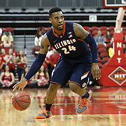Rayvonte Rice #24 of the Illinois Fighting Illini dribbles the ball during the NIT First Round game at Agganis Arena on March 19, 2014 in Boston, Massachusetts . (Photo by Elan Kawesch)