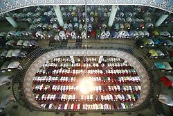 June 26, 2017 - Dhaka, Bangladesh - Bangladeshi Muslims offer Eid ul-fitr prayer at Baitul Mukarram National mosque in Dhaka, Bangladesh, June 26, 2017. (Credit Image: © Suvra Kanti Das via ZUMA Wire)
