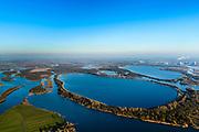 Nederland, Noord-Brabant, Werkendam, 07-02-2018; de Brabantse Biesbosch, onderdeel van Nationale Park De Biesbosch. Honderd en Dertig, voormalige polder, nu spaarbekken voor de productie van drinkwater. <br /> National Park De Biesbos with reservoir for the production of drinking water.<br /> luchtfoto (toeslag op standard tarieven);<br /> aerial photo (additional fee required);<br /> copyright foto/photo Siebe Swart