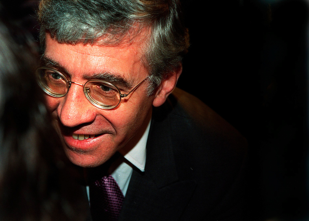Jack Straw MP Home Secretary November 1999.at Sound Republic listening to young peoples points of view