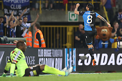 April 19, 2018 - Brugge, BELGIUM - Club's Lior Refaelov celebrates after scoring during the Jupiler Pro League match between Club Brugge and Sporting Charleroi, in Brugge, Thursday 19 April 2018, on day four of the Play-Off 1 of the Belgian soccer championship. BELGA PHOTO BRUNO FAHY (Credit Image: © Bruno Fahy/Belga via ZUMA Press)