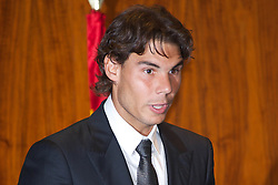 "03.05.2011, Mapfre Foundation in Madrid, ESP, Accreditation ceremony of the 4 th Promotion of ""Honorary Ambassadors Spain Brand"", im Bild Rafael Nadal during Accreditation ceremony of the 4 th Promotion of ""Honorary Ambassadors Spain Brand"" at Mapfre Foundation in Madrid. EXPA Pictures © 2011, PhotoCredit: EXPA/ Alterphotos/ ALFAQUI +++++ ATTENTION - OUT OF SPAIN / ESP +++++"