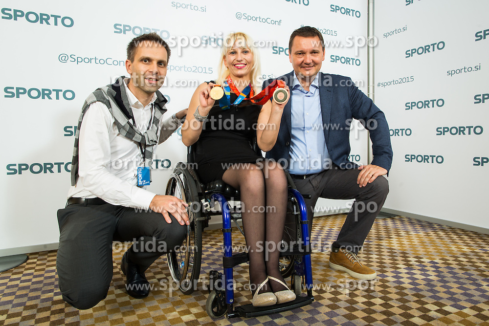 Mateja Pintar (paraolimpic table tennis player during Sporto Dinner with Sporto Awards 2015 Ceremony at Sports marketing and sponsorship conference Sporto 2015, on November 19, 2015 in Hotel Slovenija, Congress centre, Portoroz / Portorose, Slovenia.<br /> Photo by Vid Ponikvar / Sportida
