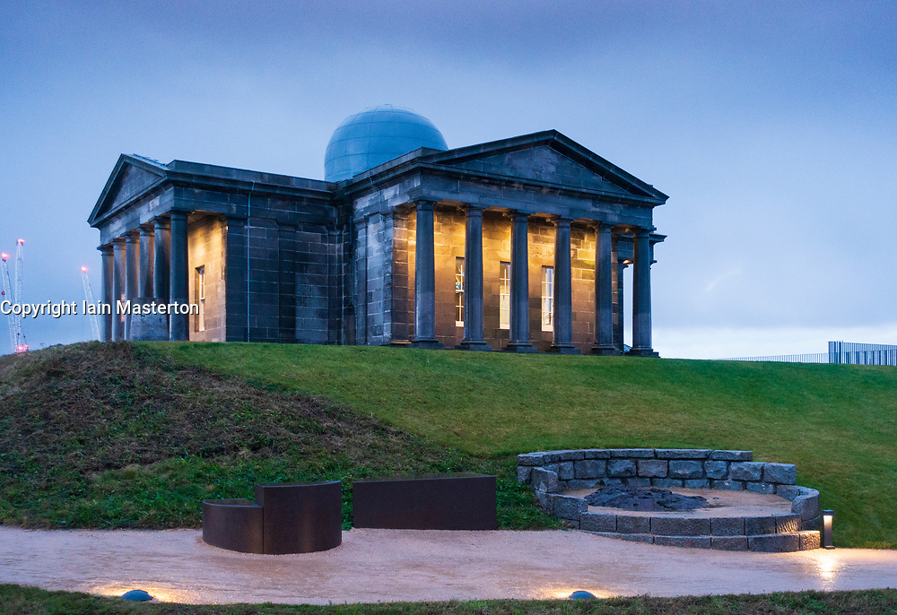 Edinburgh, Scotland, UK. 20 November, 2018. The historic City Observatory on Calton Hill will reopen as The Collective, an arts development organisation and will feature the restored City Observatory, City Dome, and a purpose-built exhibition space as well as The Lookout , a new restaurant. It opens to the public on 24 November, 2018.