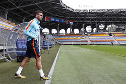 Vincent Janssen of Holland during a training session prior to the FIFA World Cup 2018 qualifying match between Belarus and Netherlands on October 06, 2017 at Borisov Arena in Borisov,  Belarus