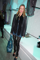 AMANDA CROSSLEY at a party hosted by Kate Sumner at Zadig & Voltaire to celebrate the brand's arrival in London at 182 Westbourne Grove, London W11 on 14th October 2008.