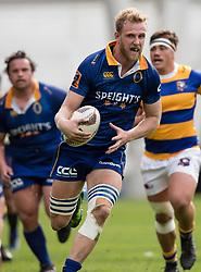 Otago's Josh Dickson, centre, makes a run against Bay of Plenty in the Mitre 10 Cup rugby match, Forsyth Barr Stadium, Dunedin, New Zealand, Oct. 7 2017.  Credit:SNPA / Adam Binns ** NO ARCHIVING**