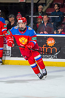 KELOWNA, BC - DECEMBER 18: Evgeny Kanitskiy #11 of Team Russia warms up against the Team Sweden at Prospera Place on December 18, 2018 in Kelowna, Canada. (Photo by Marissa Baecker/Getty Images)***Local Caption***