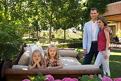 Princess Letizia of Spain celebrates her 40th Birthday. Madrid. Spain. Prince of Asturias Felipe de Borbon and Princess Letizia Ortiz and their daughters Princess Leonor and Sofia. ADVICE: NOT FOR BEEN PUBLISHED BEFORE 15/09/2012. (C) Cristina Garcia Rodero/Spanish Royal House/ Casa de su Majestad el Rey./i-Images
