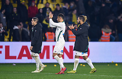 January 31, 2019 - Nantes, France - Romain Hamouma ( Saint Etienne ) - KOLODZIEJCZAK Timothee ( Saint Etienne ) - Lois Diony  (Credit Image: © Panoramic via ZUMA Press)