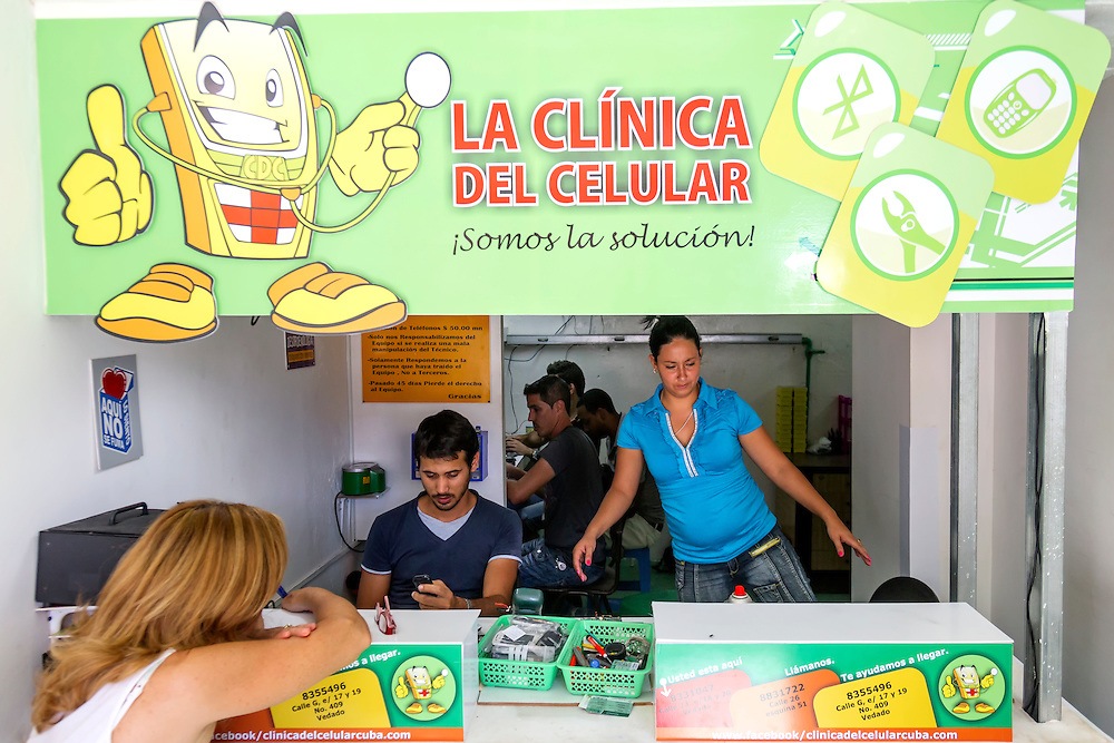 La Clinica del Celular in Havana Vedado, Cuba.