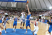 DESCRIZIONE : Cagliari Eurobasket Men 2009 Additional Qualifying Round Italia Francia<br /> GIOCATORE : Florent Pietrus Angelo Gigli<br /> SQUADRA : Italy Italia Nazionale Maschile Francia France<br /> EVENTO : Eurobasket Men 2009 Additional Qualifying Round <br /> GARA : Italia Francia Italy France<br /> DATA : 05/08/2009 <br /> CATEGORIA : rimbalzo<br /> SPORT : Pallacanestro <br /> AUTORE : Agenzia Ciamillo-Castoria/C.De Massis