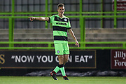 Forest Green Rovers Rendijs Kalnins(6) during the FA Youth Cup match between U18 Forest Green Rovers and U18 Cheltenham Town at the New Lawn, Forest Green, United Kingdom on 29 October 2018.
