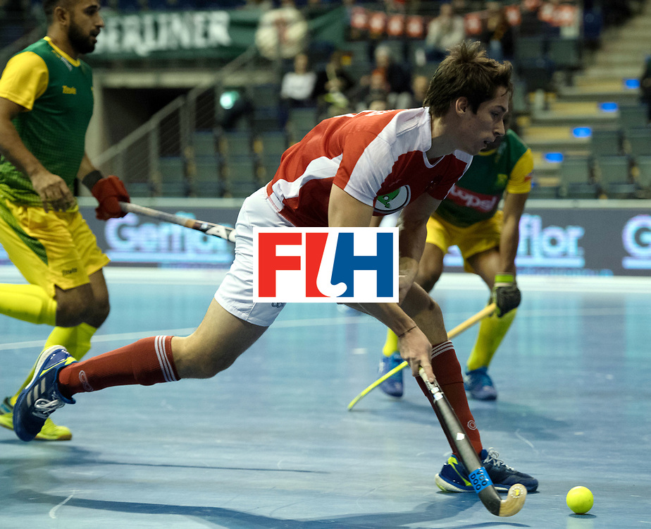 BERLIN - Indoor Hockey World Cup<br /> Austria - South Africa<br /> foto: EITENBERGER Sebastian<br /> WORLDSPORTPICS COPYRIGHT FRANK UIJLENBROEK
