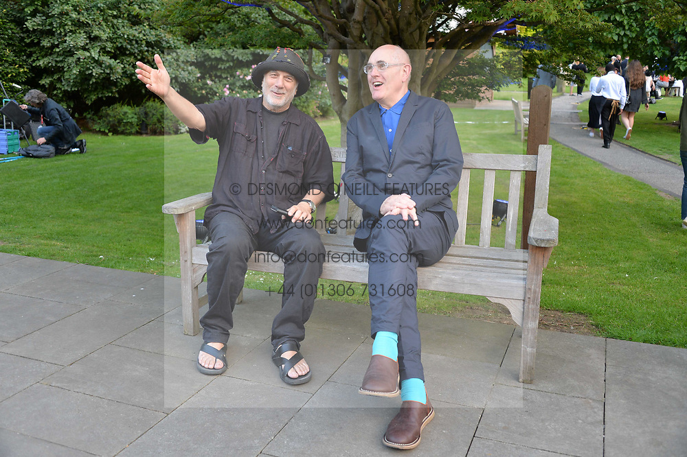 Ron Arad and Humphrey Ocean at the Dulwich Picture Gallery's inaugural Summer Party, Dulwich Picture Gallery, College Road, London England. 13 June 2017.