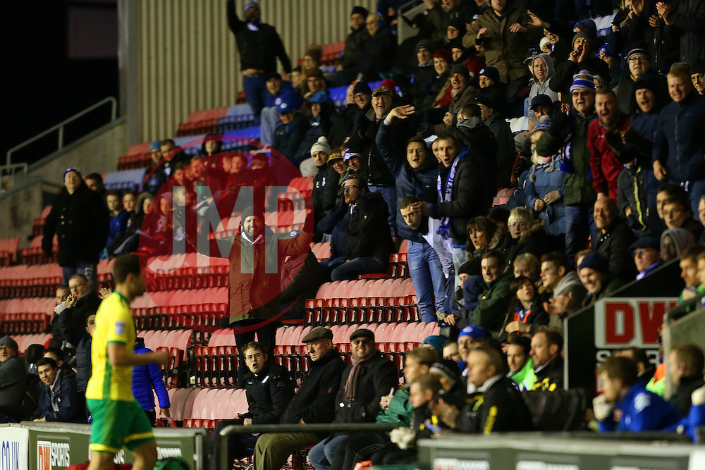 Wigan Athletic fans shout abuse at their former player Yanic Wildschut after he is substituted after an hour - Mandatory by-line: Matt McNulty/JMP - 07/02/2017 - FOOTBALL - DW Stadium - Wigan, England - Wigan Athletic v Norwich City - Sky Bet Championship