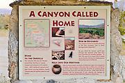 Interpretive sign in Coyote Canyon, Anza-Borrego Desert State Park, California USA