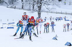 16.12.2017, Nordische Arena, Ramsau, AUT, FIS Weltcup Nordische Kombination, Langlauf, im Bild Bryan Fletcher (USA) // Bryan Fletcher of the USA during Cross Country Competition of FIS Nordic Combined World Cup, at the Nordic Arena in Ramsau, Austria on 2017/12/16. EXPA Pictures © 2017, PhotoCredit: EXPA/ Martin Huber