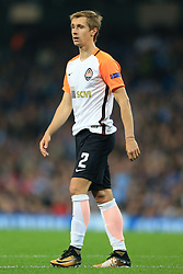 26th September 2017 - UEFA Champions League - Group F - Manchester City v Shakhtar Donetsk - Bohdan Butko of Shakhtar - Photo: Simon Stacpoole / Offside.