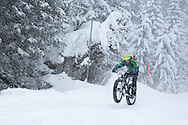 Oli Munnik of South Africa during stage 5 of the first Snow Epic, the Trübsee climb near Engelberg, in the heart of the Swiss Alps, Switzerland on the 17th January 2015<br /> <br /> Photo by:  Nick Muzik / Snow Epic / SPORTZPICS